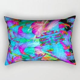 Worm Tumor Colony (Blue Hawaiian) Rectangular Pillow