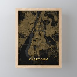 Khartoum, Sudan - Gold Framed Mini Art Print