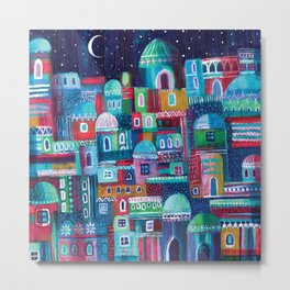 Mosaic City Metal Print