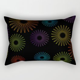 Colorful Christmas snowflakes pattern- holiday season gifts- Happy new year gifts Rectangular Pillow