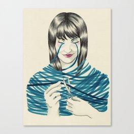 Le ruban bleu Canvas Print