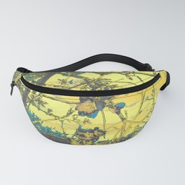 Blossoms Abstract Yellow Fanny Pack