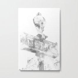 Typical Paris | watercolor black and white Metal Print