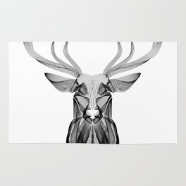 """""""Favorite Collection"""" - Abstract Lines Deer Print Rug"""