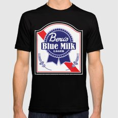Beru's Blue Milk Lager Mens Fitted Tee SMALL Black