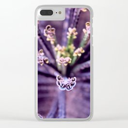Purple Euphorbia in Detail Clear iPhone Case