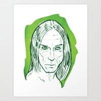 iggy pop Art Prints featuring Iggy Pop! by BTillustration