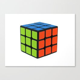 Colorful Cube Canvas Print