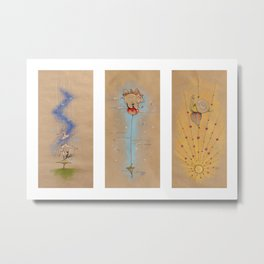 Air of Imagination Nursery Collection - III Metal Print