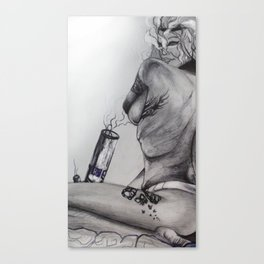 Anonymous Toker Canvas Print