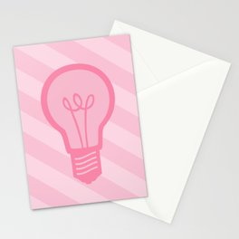 Pastel Pink Light Bulb Stationery Cards