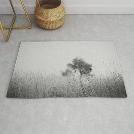 Black & White nature print Rug