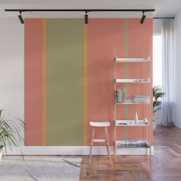 Mango Lime Stripes Wall Mural