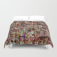 tokyo Duvet Covers featuring Tokyo by FYLLAYTA, surface design,Tina Olsson