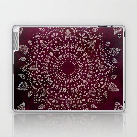 Wine Mandala Laptop & iPad Skin