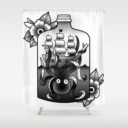 ship in a bottle Shower Curtain
