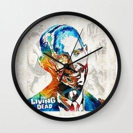 Zombie Art - The Living Dead - Halloween Fun Wall Clock