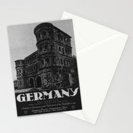 retro vintage Germany poster Stationery Cards