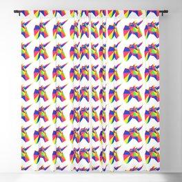 Rainbow Unicorn Geometric Design Blackout Curtain