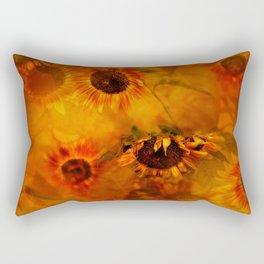 Autumn Playful Sunflowers Rectangular Pillow