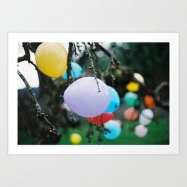 balloon tree Art Print