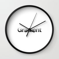 gradient Wall Clocks featuring Gradient by Filter