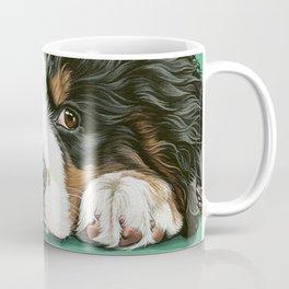 Cute Bernese Mountain Dog Puppy Pet Portrait Coffee Mug