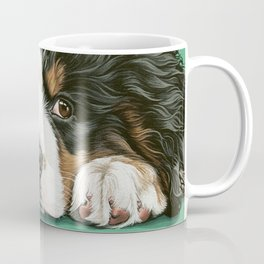 Cute Bernese Mountain Dog Puppy Pet Portrait Coffee Mug