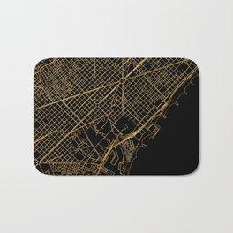 Black and gold Barcelona map Bath Mat