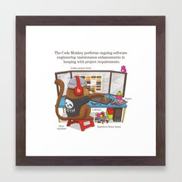 The Code Monkey Framed Art Print