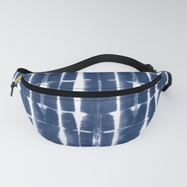 Shibori Stripes 3 Indigo Blue Fanny Pack