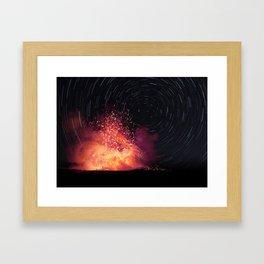Kilauea Volcano Eruption. Framed Art Print