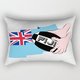 Fiji Rugby Flag Rectangular Pillow