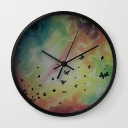 THE DANCE OF BUTTERFLIES Wall Clock