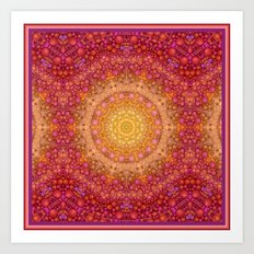 Love Will Find A Way -- Kaleidescope Mandala in the colors of Love Art Print