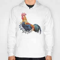 rooster Hoodies featuring Rooster by JumperCat