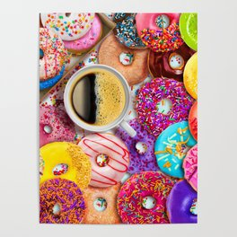 Donuts & Coffee Poster