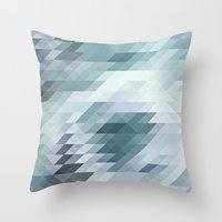 polygon Throw Pillows featuring Polygon by JBdesign