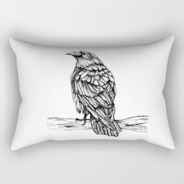 Raven Ink Dawing Rectangular Pillow
