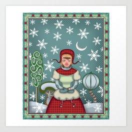 peaceful snow  Art Print