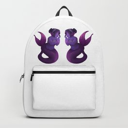 Double Purple Mermaid Backpack