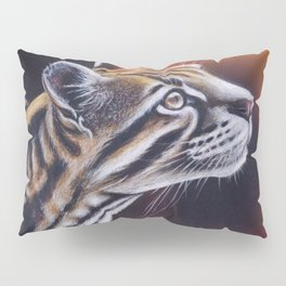Ocelot Colored Pencil Art Pillow Sham