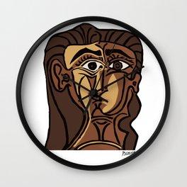 Pablo Picasso, Tete de Femme (Head Of A Woman) 1962 Artwork Reproduction Wall Clock