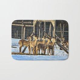 Whitetail Deer Stare Down Bath Mat