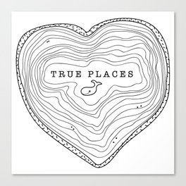 true places - tree rings Canvas Print