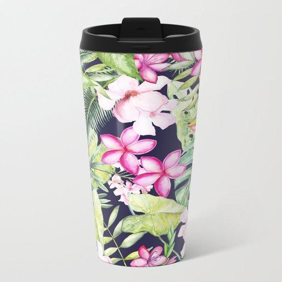 Tropical Garden Metal Travel Mug