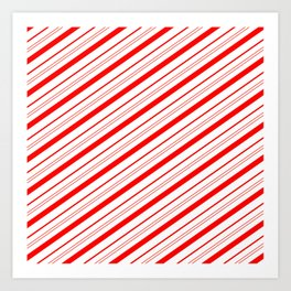Candy Cane Stripes Art Print