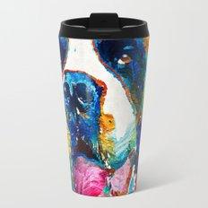 Colorful Saint Bernard Dog by Sharon Cummings Travel Mug