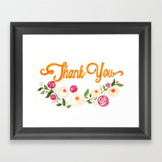 Floral Thanks Framed Art Print