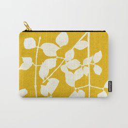 white branch on golden tone Carry-All Pouch